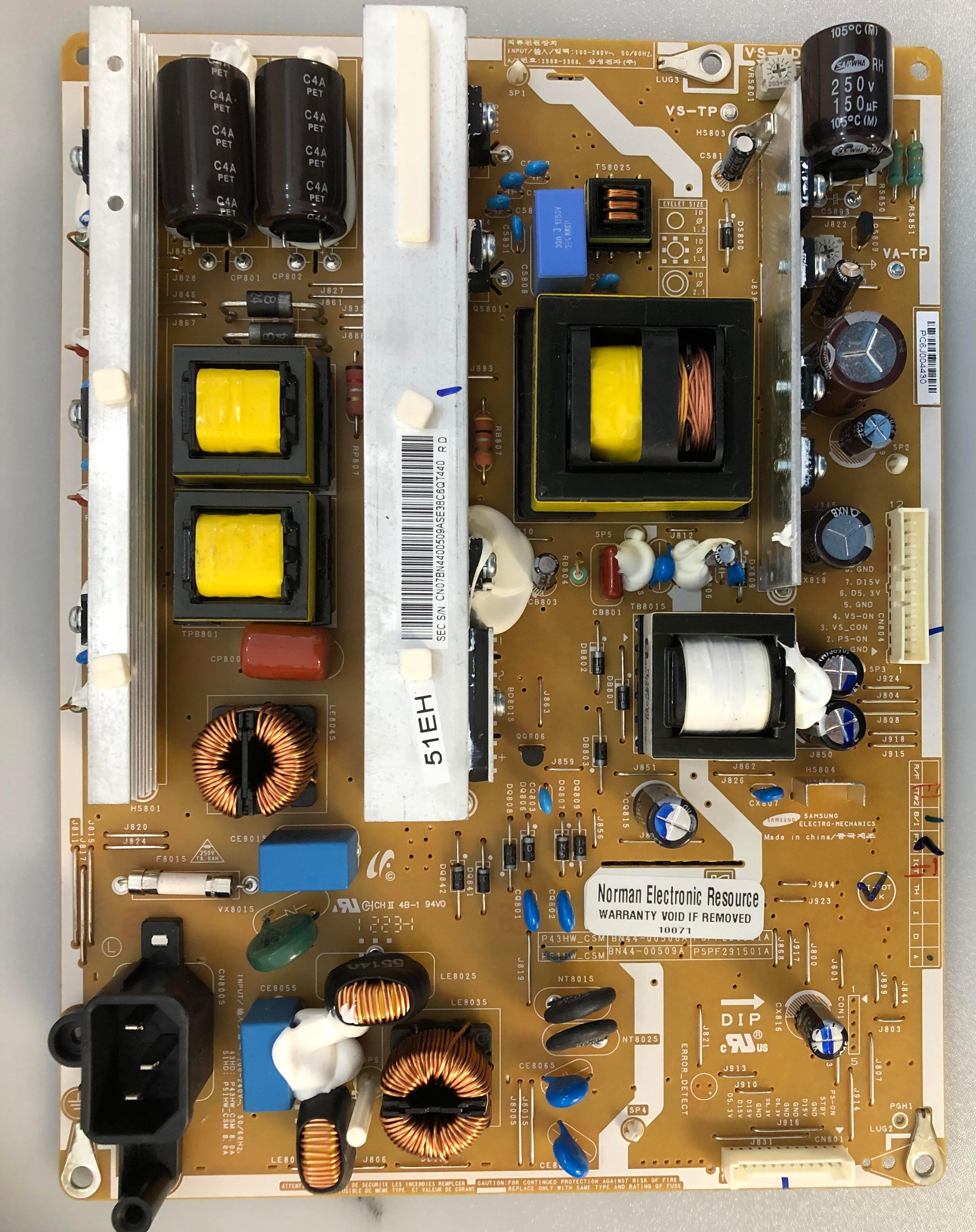 Power Cord for Samsung PN51E450A1FXZA TV